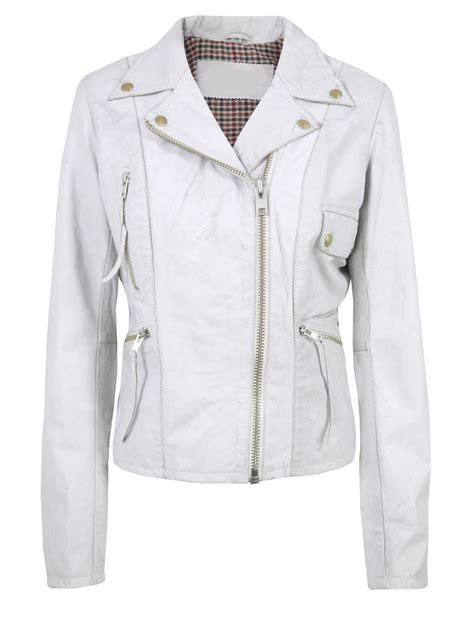white motorbike jacket arrow womens white leather jacket aw6006