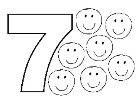 Number 7 Coloring Pages For Preschoolers by 7 Smiles Coloring Page