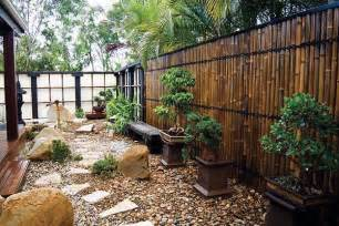 japanese style garden love the bamboo fence new house