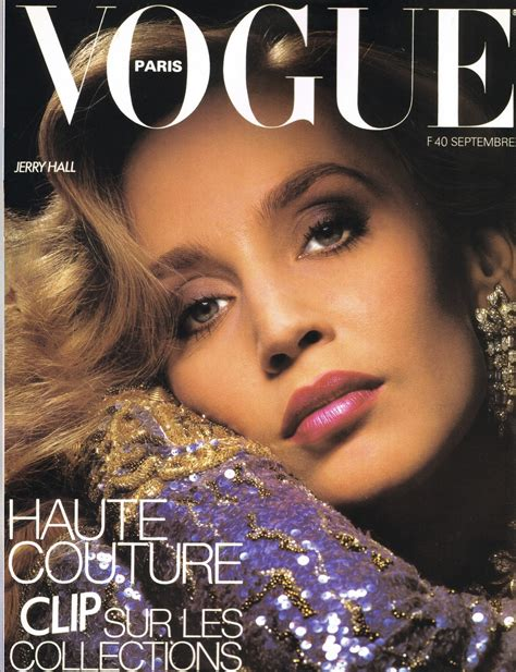 are there any magazines beauty for the over 70 women jerry hall vogue paris cover mauve toned makeup beauty