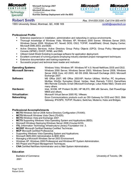 Systems Administrator Resume by System Administrator Resume 1 2 Junior System Engineer