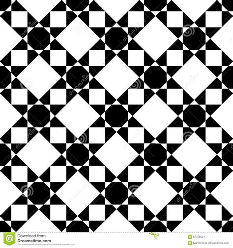 star pattern background vector black and white geometric seamless pattern with star
