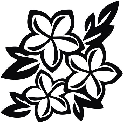 Flower Clipart Black And White flower clip black and white cliparts