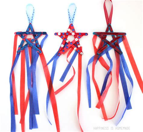 4th of july kid crafts 4th of july craft popsicle stick streamers