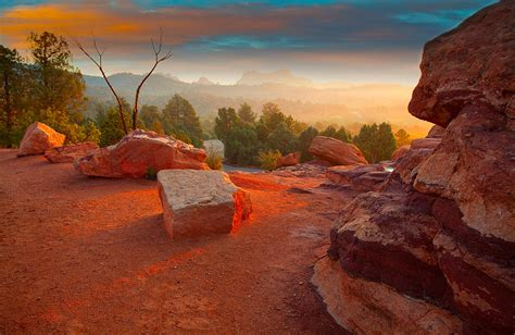 Garden Of The Gods Light Show Morning Light Photograph By Tim Reaves