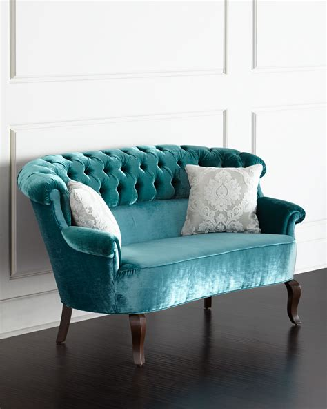 lulu couch turquoise lulu tufted settee everything turquoise