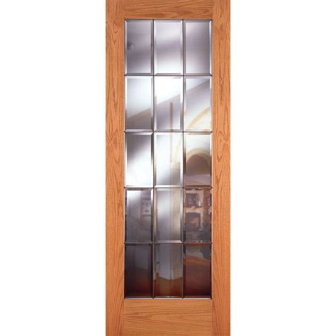 feather river doors 30 in x 80 in privacy smooth 1 lite feather river doors 30 in x 80 in 15 lite unfinished oak
