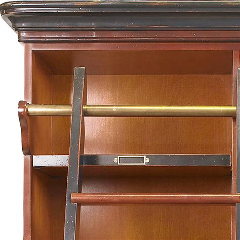 Bookcase Ladder Hardware Bookcase Ladder Hardware Library Bookcases With Ladders Tidbits Twine 10 Rockler Exclusive