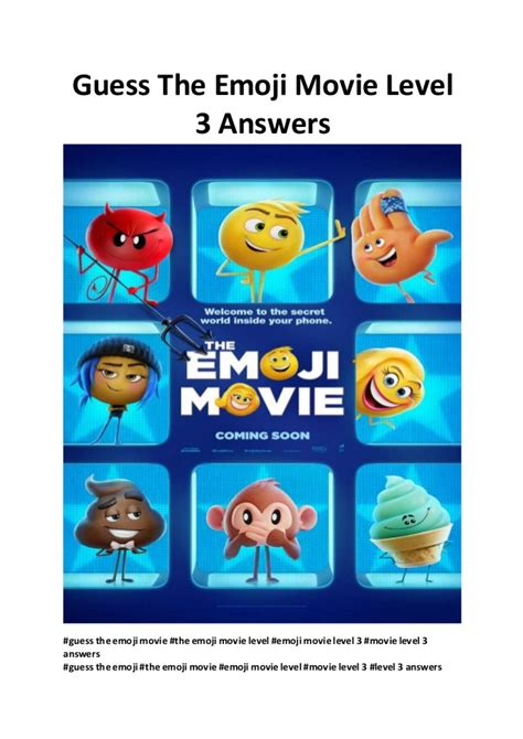 emoji movie streaming guess the emoji movie level 3 answers watch movies online