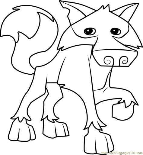 coloring pages of animal jam wolf animal jam coloring page free animal jam coloring