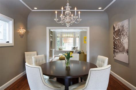 gray dining room ceiling transitional dining room