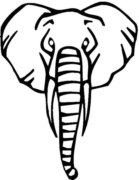 printable animal heads animal elephant head printable coloring sheet