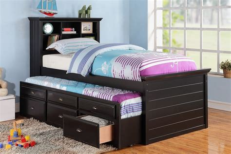 twin sized bed twin size bed multi storage unit black finish trundle