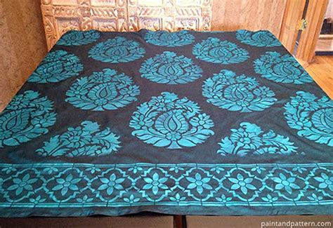 fabric pattern stencils ideas india travel memories in stenciled silk nomadic decorator