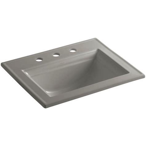 kohler drop in bathroom sinks kohler memoirs drop in vitreous china bathroom in