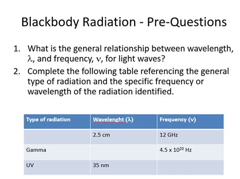How To Find Frequency Of Light by What Is The General Relationship Between Wavelengt