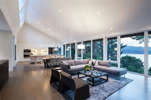 open plan living space with mesmerizing view of the
