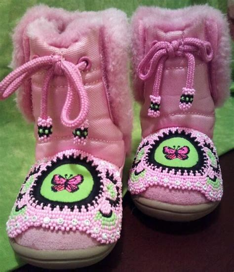 beadwork pink pink boots i ve beaded my bead work