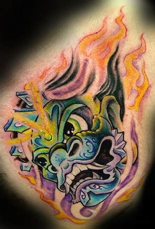 watercolor tattoo bali bodypainting tattoos design tiger bali design