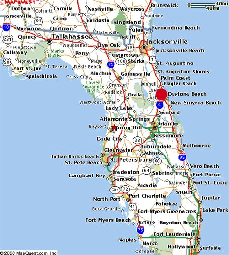 Map Florida Daytona