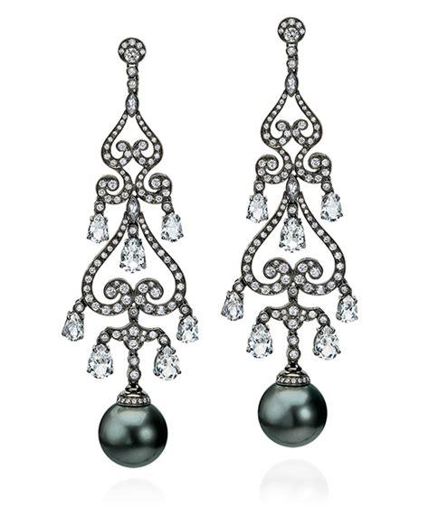Tahitian Pearl Chandelier Earrings Cellini Jewelers Pearl Chandelier Earrings