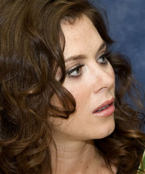Anna Friel Long Wavy Casual Hairstyle   Medium Brunette