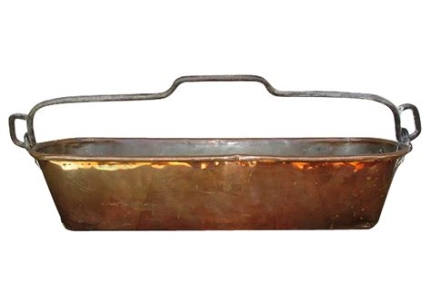Copper Coffee Table Antique French Handmade Copper Amp Iron Fish Poacher Pan