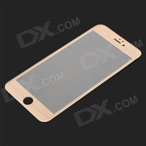 Tempered Glass Titanium Iphone titanium alloy tempered glass for iphone 6 chagne golden free shipping dealextreme