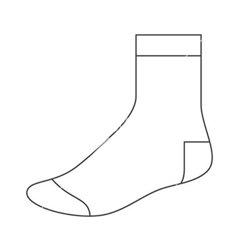 14 socks outline template images socks clip art free