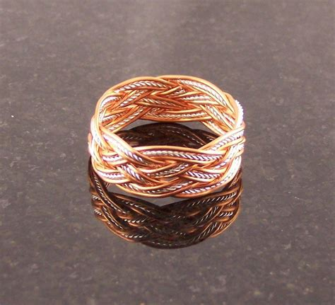 Handmade Copper Rings - buy a handmade copper sterling silver wire rope s