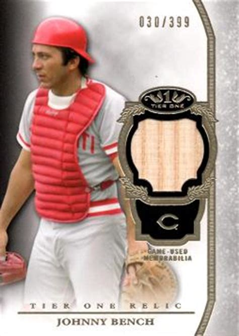 johnny bench restaurant johnny bench baseball rookie card