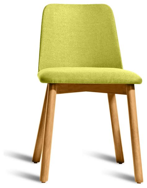 Bright Dining Chairs Dot Chip Dining Chair White Oak Bright Green Modern Dining Chairs By Dot