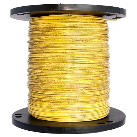 southwire 2500 ft 14 yellow solid cu thhn wire 11584005