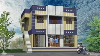 House Plan Shop Home With Ground Floor Shops In 2000 Sq Feet House