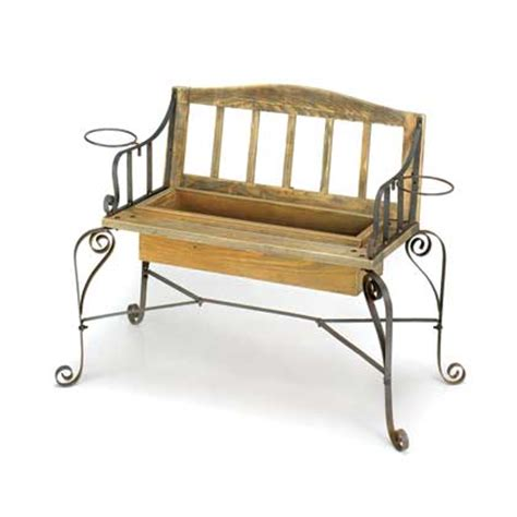 garden bench wrought iron and wood wholesale wrought iron and wood bench design garden planter