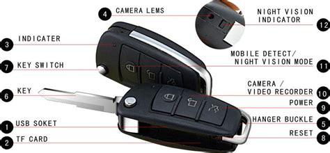 Kamera Mini Gantungan Kunci Mobil Hd 909 kamera pengintai car key appearance 1080p with