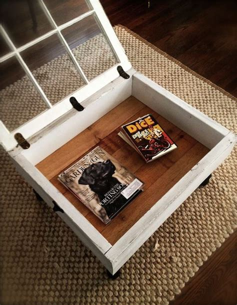 Turn Your Old Window Into A Coffee Table In A Few Simple Vintage Window Coffee Table