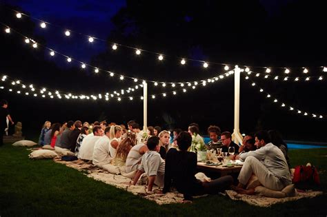 backyard party lighting image gallery outdoor dinner party lighting