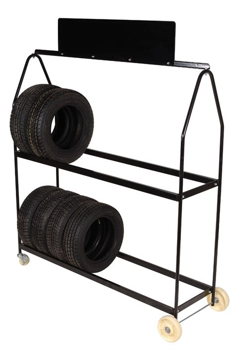 the tire rack tire rack deluxe mobile tire rack on 4 wheels