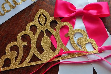 Set Mobil 3 In 1 Bordir Crown Pink Black birthday crown and sash set ships in 2 5 business days pink and confetti momma