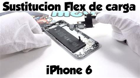 como reparar el flex de carga de iphone  youtube