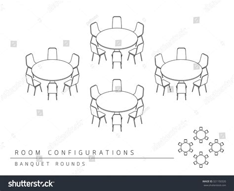 table layout vector meeting room setup layout configuration banquet rounds