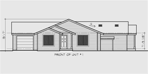 one level duplex house plans one level duplex house plan corner lot duplex house plans d 440