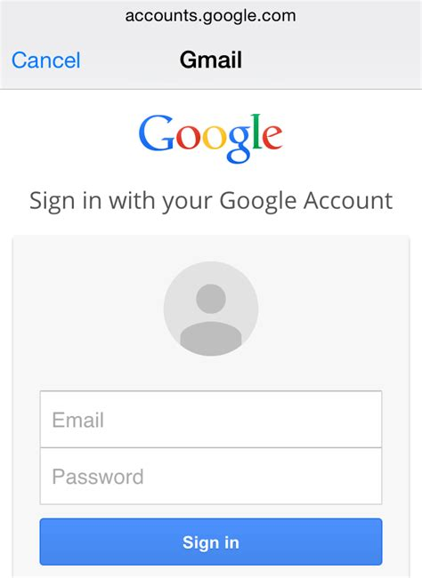 email gmail sign in how to add gmail account to mail app on apple iphone or