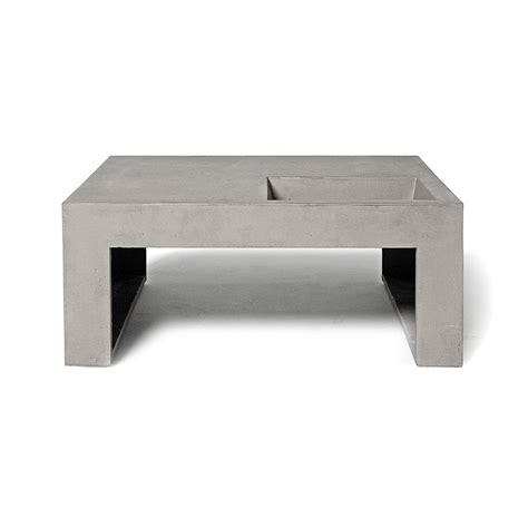 restoration hardware concrete table furniture cement coffee table reclaimed wood side table