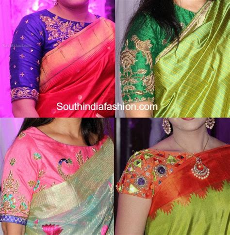 boat neck pattu blouses simple boat neck maggam work blouse designs for silk