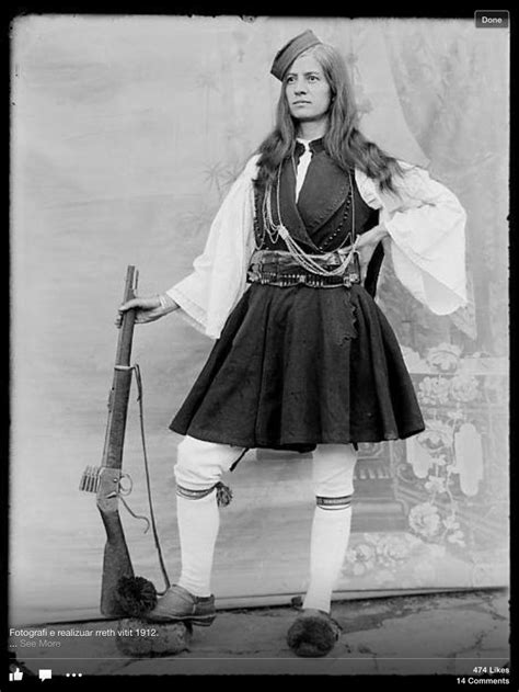 Långa Frisyrer by 1912 Albanian In Clothing Albanian
