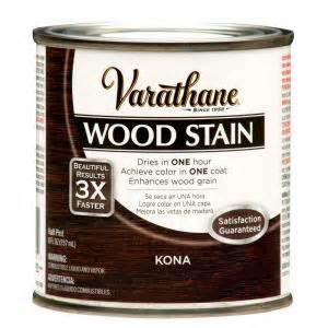 kona stain color varathane 1 2 pt kona wood stain 266195 the home depot