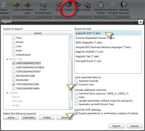 export layout to template autocad exporting mastermap data to dxf format for autocad users