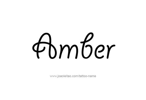 tattoo ideas for the name amber tattoo design colors names amber 08 png